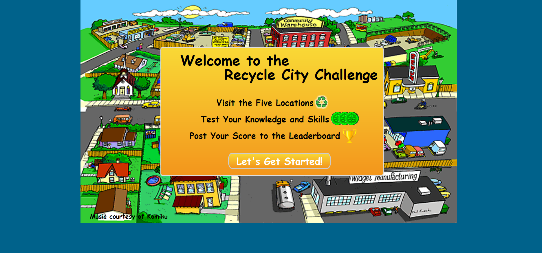 Screenshot of Recycle City Game