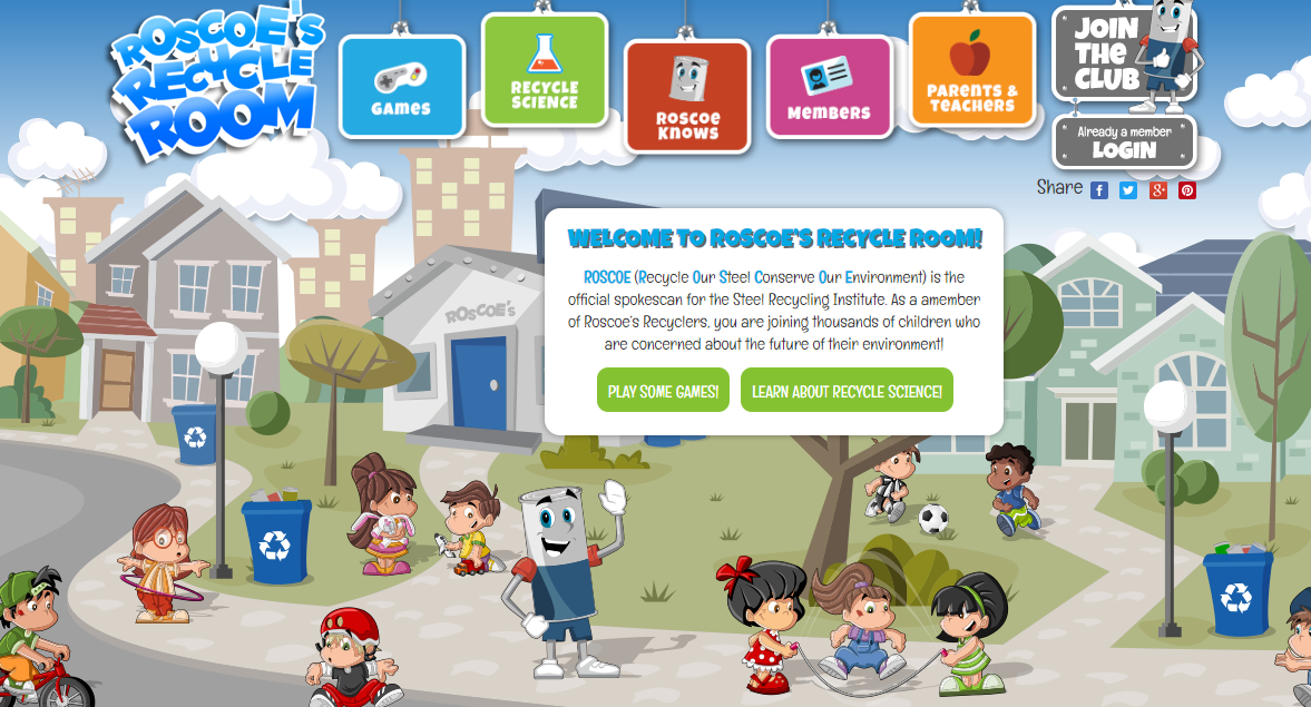 Screenshot of Roscoes Recycle Room Games