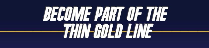 "image that says ""become part of the thin gold line"""